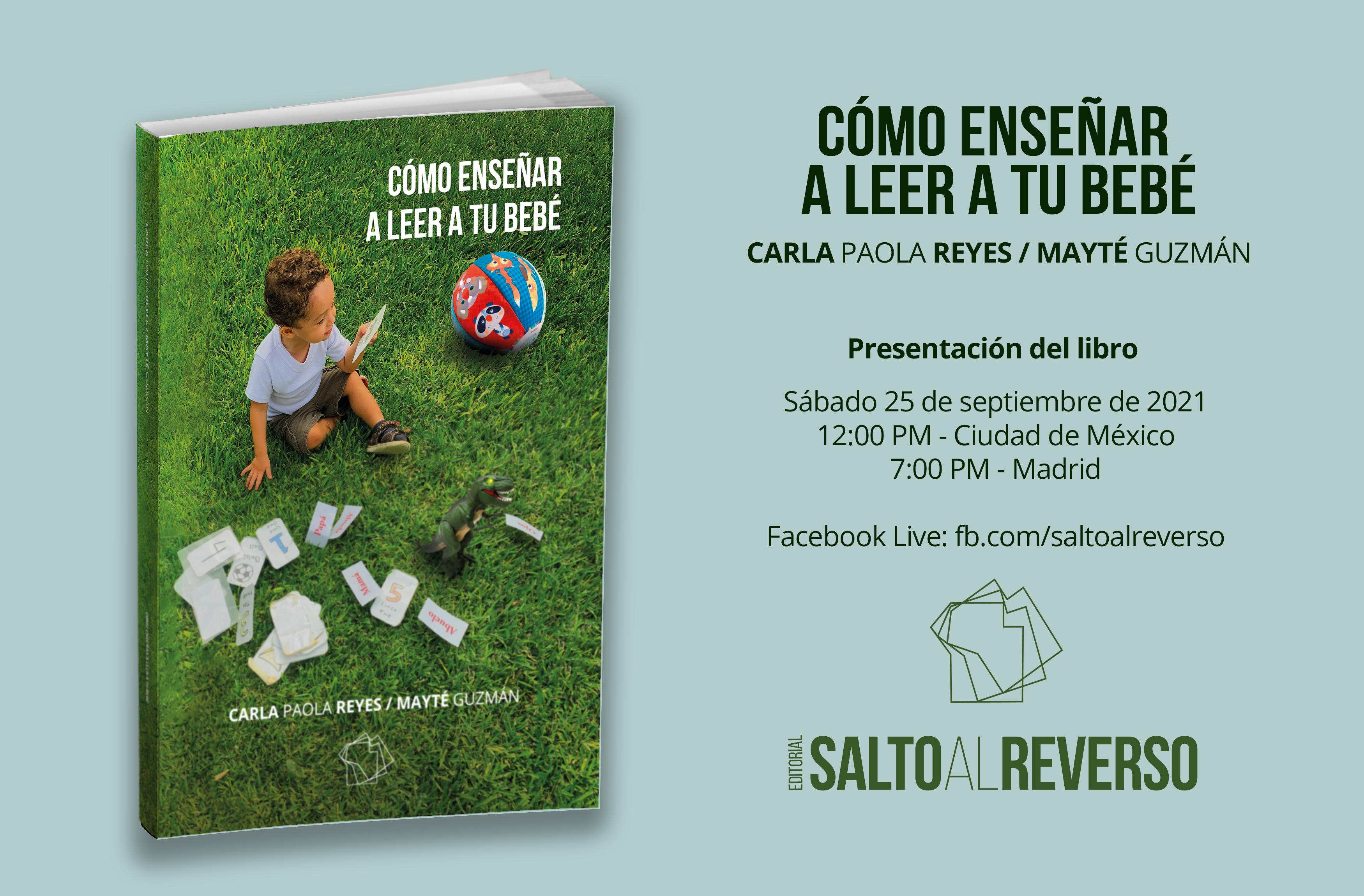 Próxima presentación del libro «Cómo enseñar a leer a tu bebé»